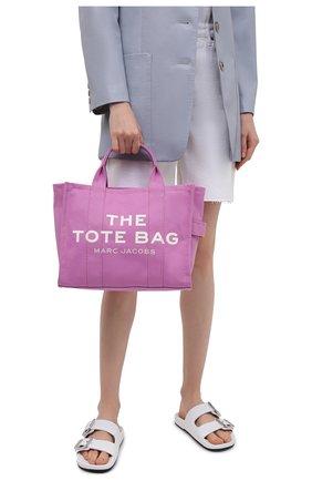 Женский сумка-тоут the traveller small MARC JACOBS (THE) розового цвета, арт. M0016161   Фото 2
