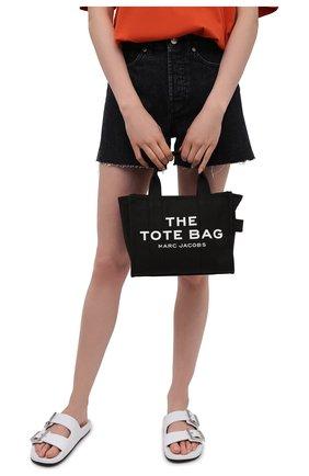 Женский сумка-тоут traveller mini MARC JACOBS (THE) черного цвета, арт. M0016493   Фото 2