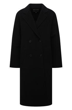 Женское шерстяное пальто EMPORIO ARMANI черного цвета, арт. 8N2L02/2NWEZ   Фото 1