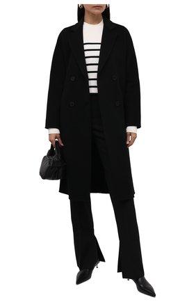 Женское шерстяное пальто EMPORIO ARMANI черного цвета, арт. 8N2L02/2NWEZ   Фото 2