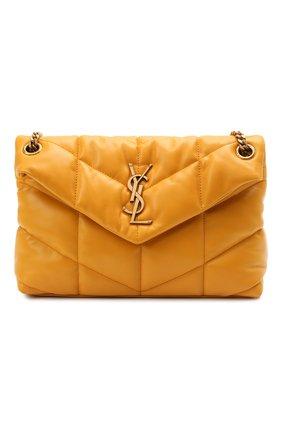 Женская сумка puffer small SAINT LAURENT желтого цвета, арт. 577476/1EL07   Фото 1