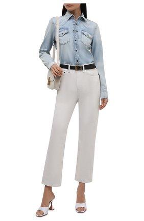 Женская джинсовая рубашка SAINT LAURENT голубого цвета, арт. 653999/Y31GA   Фото 2