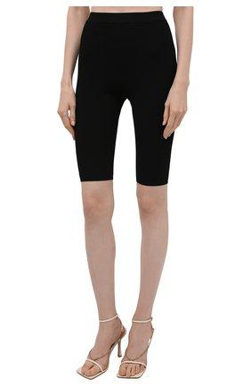 Женские шорты из вискозы SAINT LAURENT черного цвета, арт. 657443/Y75BE | Фото 3