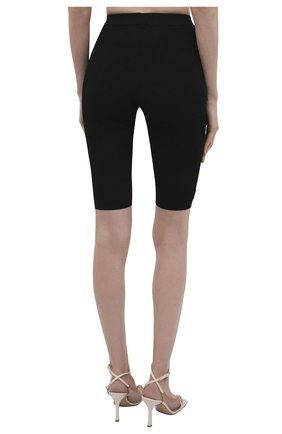 Женские шорты из вискозы SAINT LAURENT черного цвета, арт. 657443/Y75BE | Фото 4