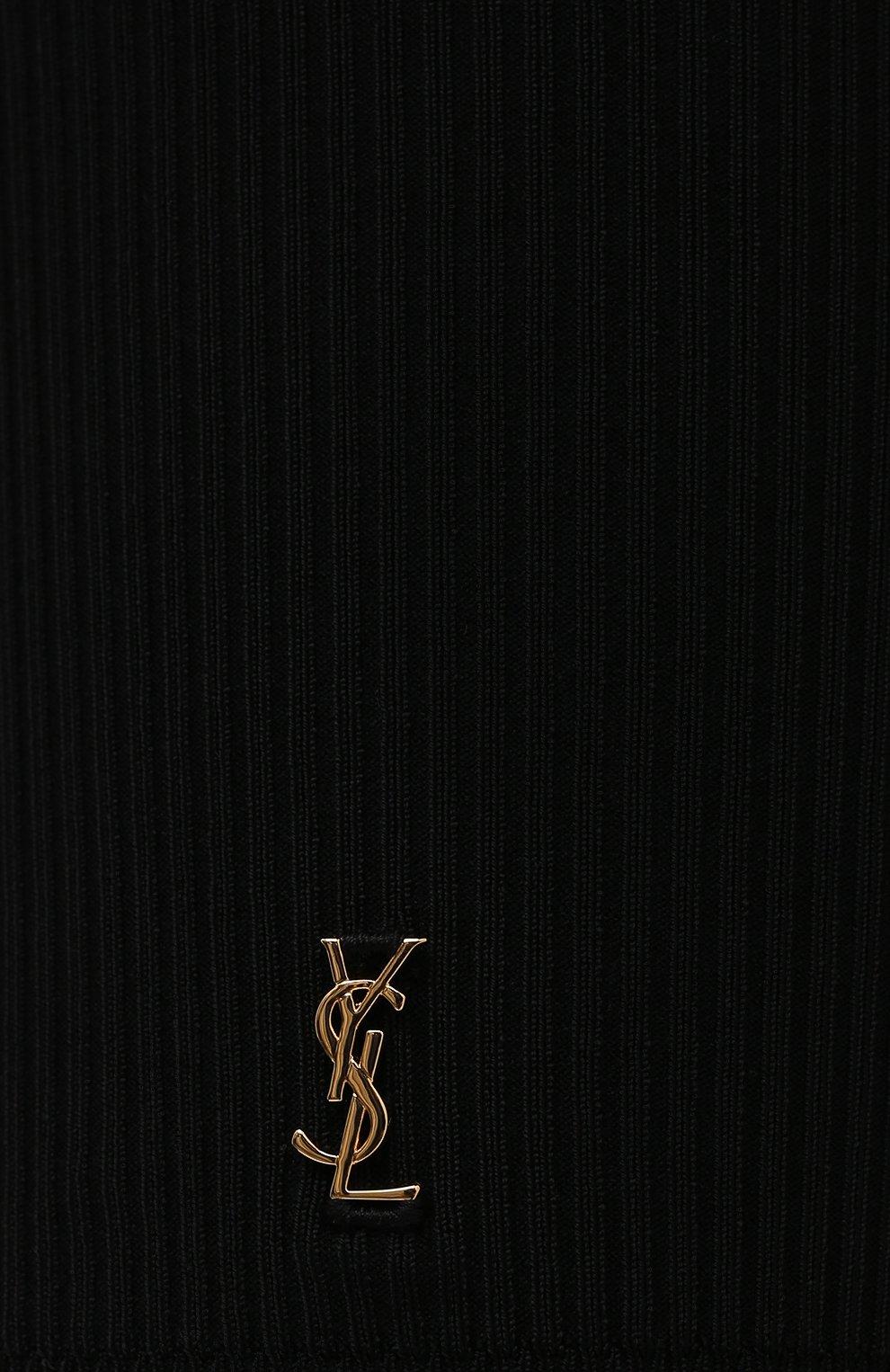 Женские шорты из вискозы SAINT LAURENT черного цвета, арт. 657443/Y75BE | Фото 5