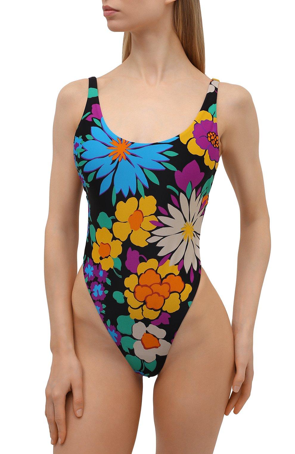 Женский слитный купальник SAINT LAURENT разноцветного цвета, арт. 657944/Y36EZ | Фото 2