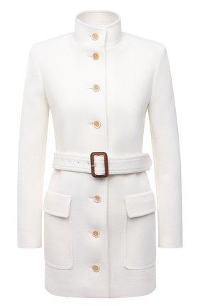 Женский шерстяной жакет SAINT LAURENT белого цвета, арт. 659808/Y288V   Фото 1