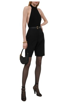 Женское боди из вискозы SAINT LAURENT черного цвета, арт. 660795/Y75AU | Фото 2