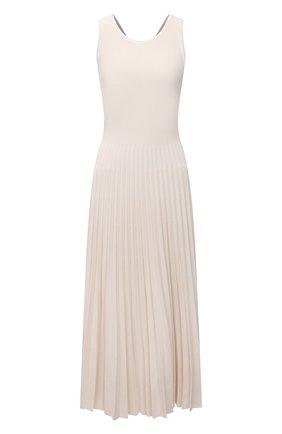 Женское платье из вискозы MRZ кремвого цвета, арт. S21-0085 | Фото 1