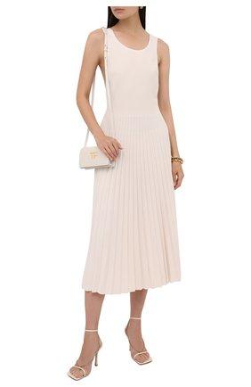 Женское платье из вискозы MRZ кремвого цвета, арт. S21-0085 | Фото 2