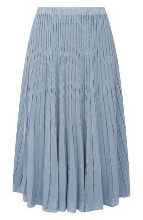 Женская юбка из вискозы RALPH LAUREN голубого цвета, арт. 290847204 | Фото 1 (Материал внешний: Вискоза; Материал подклада: Вискоза; Стили: Кэжуэл; Кросс-КТ: Трикотаж; Женское Кросс-КТ: Юбка-одежда; Длина Ж (юбки, платья, шорты): До колена)
