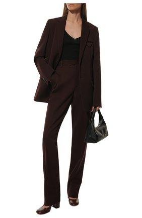 Женские кожаные туфли GIANVITO ROSSI бордового цвета, арт. G22011.85RIC.VITMERL | Фото 2 (Подошва: Плоская; Материал внутренний: Натуральная кожа; Каблук тип: Устойчивый; Каблук высота: Высокий)