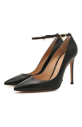 Женские кожаные туфли GIANVITO ROSSI черного цвета, арт. G22022.15RIC.NAPNER0 | Фото 1