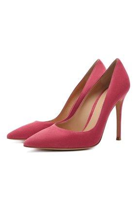 Женские замшевые туфли gianvito 105 GIANVITO ROSSI розового цвета, арт. G28470.15RIC.CAMHIBI | Фото 1