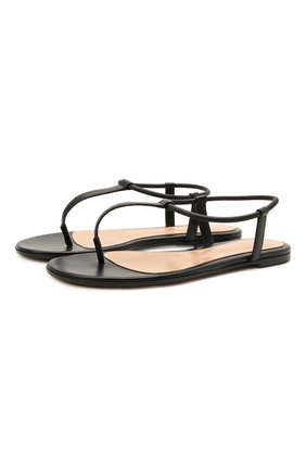 Женские кожаные сандалии GIANVITO ROSSI черного цвета, арт. G32059.05CU0.NAPNER0 | Фото 1