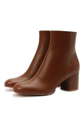 Женские кожаные ботильоны GIANVITO ROSSI коричневого цвета, арт. G70510.60RIC.VILCU0I | Фото 1