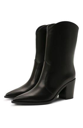 Женские кожаные сапоги denver GIANVITO ROSSI черного цвета, арт. G73546.70CU0.VGINER0 | Фото 1 (Материал внутренний: Натуральная кожа; Подошва: Плоская; Каблук тип: Устойчивый; Высота голенища: Низкие; Каблук высота: Высокий)