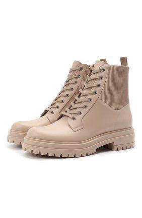 Женские комбинированные ботинки martis GIANVITO ROSSI бежевого цвета, арт. G73884.20G0M.CE0M0MS | Фото 1