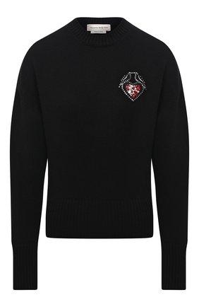 Женский шерстяной свитер ALEXANDER MCQUEEN черного цвета, арт. 667759/Q1AU7   Фото 1
