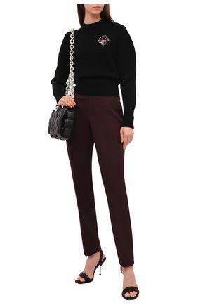 Женский шерстяной свитер ALEXANDER MCQUEEN черного цвета, арт. 667759/Q1AU7   Фото 2