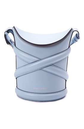 Женская сумка curve small ALEXANDER MCQUEEN светло-голубого цвета, арт. 656467/1YB42   Фото 1
