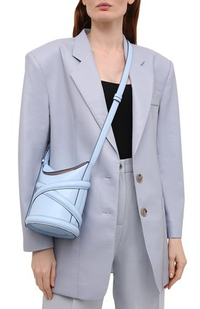 Женская сумка curve small ALEXANDER MCQUEEN светло-голубого цвета, арт. 656467/1YB42   Фото 2