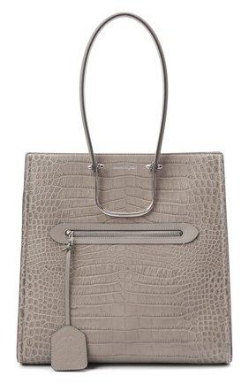 Женский сумка-шопер tall story ALEXANDER MCQUEEN светло-серого цвета, арт. 624973/1XBZY   Фото 1