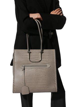 Женский сумка-шопер tall story ALEXANDER MCQUEEN светло-серого цвета, арт. 624973/1XBZY   Фото 2