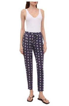 Женские брюки HANRO фиолетового цвета, арт. 077882 | Фото 2