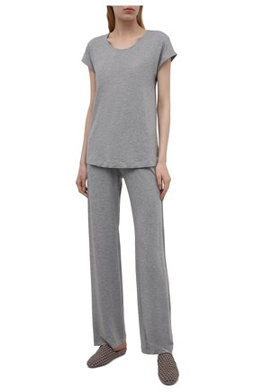 Женские брюки из вискозы HANRO серого цвета, арт. 076239 | Фото 2