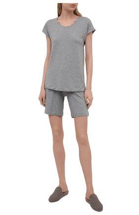 Женские шорты из вискозы HANRO серого цвета, арт. 076238 | Фото 2