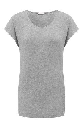 Женская футболка из вискозы HANRO серого цвета, арт. 076237 | Фото 1