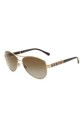 Женские солнцезащитные очки BURBERRY коричневого цвета, арт. 3080-1145T5 | Фото 1