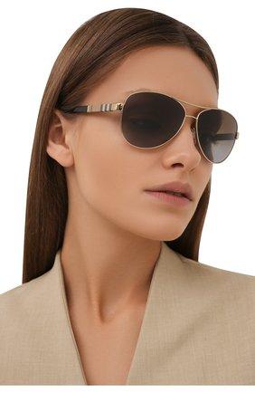 Женские солнцезащитные очки BURBERRY коричневого цвета, арт. 3080-1145T5 | Фото 2