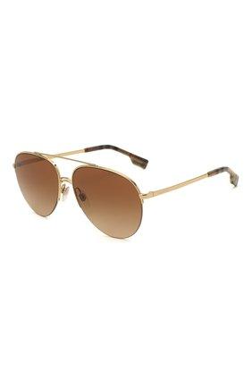 Женские солнцезащитные очки BURBERRY коричневого цвета, арт. 3113-110913   Фото 1 (Тип очков: С/з; Очки форма: Авиаторы)