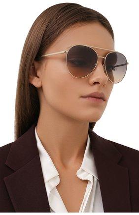 Женские солнцезащитные очки BURBERRY золотого цвета, арт. 3115-1109G9 | Фото 2