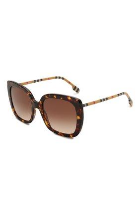 Женские солнцезащитные очки BURBERRY коричневого цвета, арт. 4323-385413   Фото 1 (Тип очков: С/з)