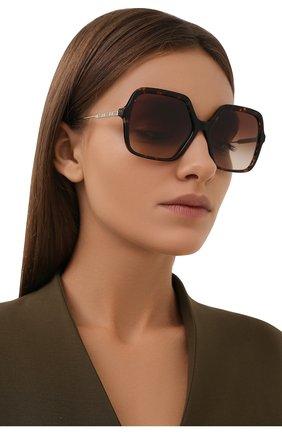 Женские солнцезащитные очки BURBERRY коричневого цвета, арт. 4324-300213   Фото 2 (Тип очков: С/з)