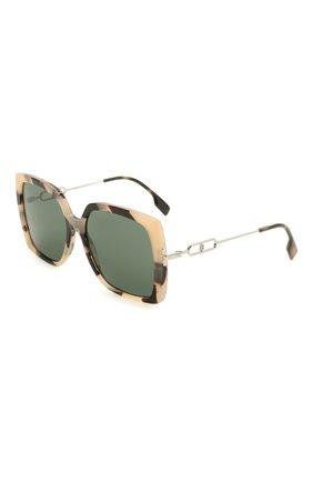 Женские солнцезащитные очки BURBERRY зеленого цвета, арт. 4332-350171   Фото 1