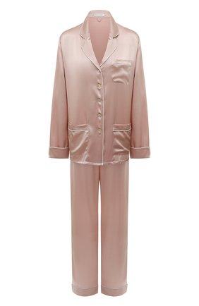 Женская шелковая пижама OLIVIA VON HALLE розового цвета, арт. CT0027 | Фото 1