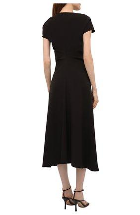 Женское платье LOW CLASSIC черного цвета, арт. L0W21SS_DR04BK   Фото 4 (Рукава: Короткие; Случай: Повседневный; Материал внешний: Синтетический материал; Длина Ж (юбки, платья, шорты): Миди; Женское Кросс-КТ: Платье-одежда; Стили: Кэжуэл)