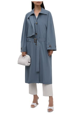 Женский хлопковый тренч LOW CLASSIC голубого цвета, арт. L0W21SS_CT02BG | Фото 2