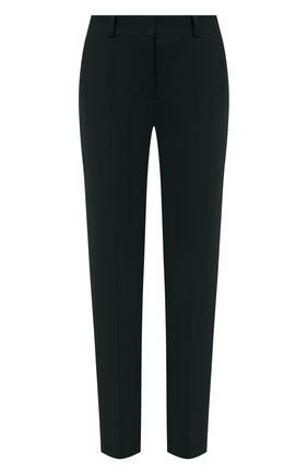 Женские шерстяные брюки LORO PIANA темно-зеленого цвета, арт. FAL8040 | Фото 1 (Материал внешний: Шерсть; Стили: Кэжуэл; Женское Кросс-КТ: Брюки-одежда; Силуэт Ж (брюки и джинсы): Узкие)