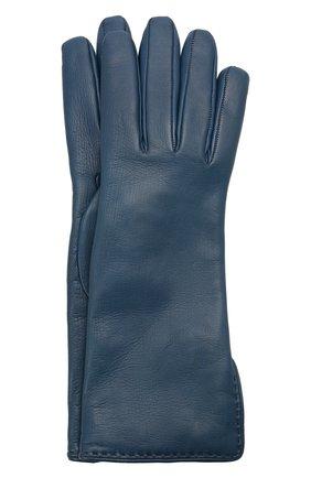 Женские кожаные перчатки LORO PIANA синего цвета, арт. FAL2778 | Фото 1