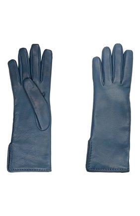 Женские кожаные перчатки LORO PIANA синего цвета, арт. FAL2778 | Фото 2
