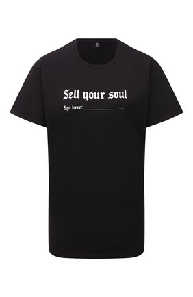 Женская хлопковая футболка R13 черного цвета, арт. R13W3836-01   Фото 1