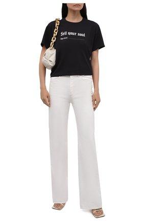 Женская хлопковая футболка R13 черного цвета, арт. R13W3836-01   Фото 2