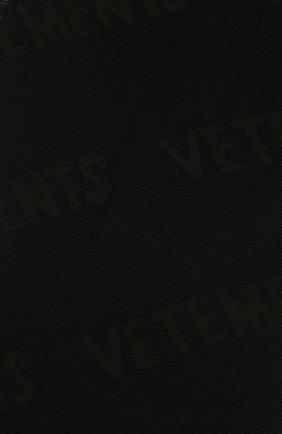Женские колготки VETEMENTS черного цвета, арт. WA52H0400B 2905/BLACK   Фото 2