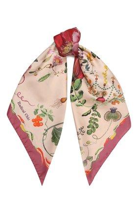 Женский шелковый платок botany RADICAL CHIC розового цвета, арт. 362021.07.02   Фото 1