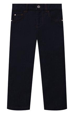 Детские джинсы LORO PIANA темно-синего цвета, арт. FAL7434   Фото 1 (Материал внешний: Хлопок; Ростовка одежда: 10 - 11 лет   140 - 146см, 18 мес   86 см, 4 года   104 см, 6 лет   116 см, 8 лет   128 см)